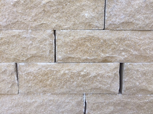 FORTICRETE 450 x 100 x 140mm BUFF ANSTONE PITCHED FACE WALLING