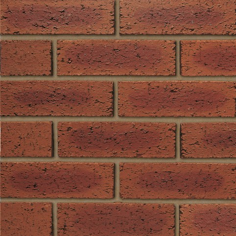 IBSTOCK A3516A HEARTED RED RUSTIC BRICK 65mm