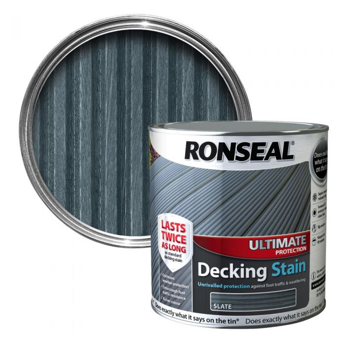 Ronseal Ultimate Decking Stain 2 5l Slate 36913 Huws Gray Ltd