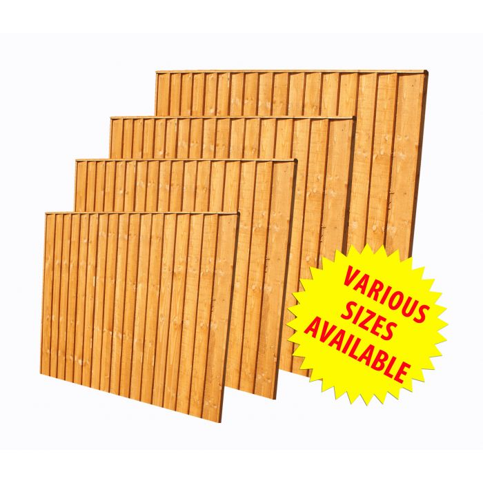 6ft X 3ft 1 83m X 0 93m Featheredge Fence Panel Forest Garden