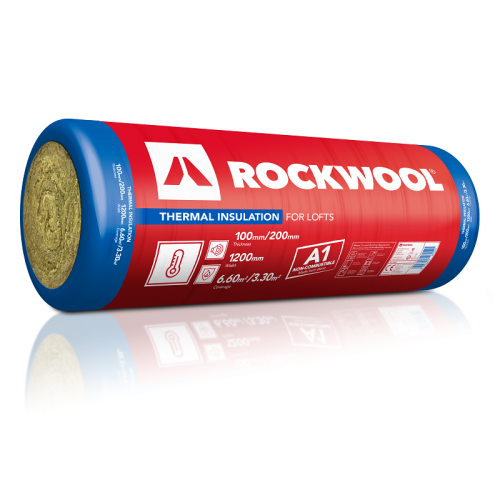 ROCKWOOL 180900 THERMAL INSULATION ROLL 100mm THICK 2 x 1200 x 2750mm (6.6m2)