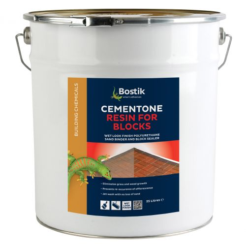 CEMENTONE RESIN FOR BLOCKS 25l WET FINISH 30812553 **NOT SUITABLE FOR CLAY PAVIORS**