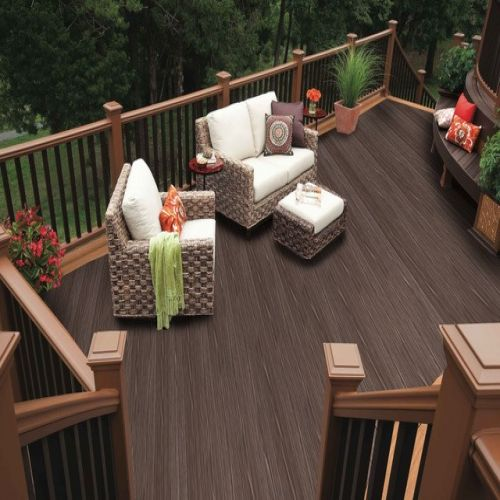 WITCHDECK HERITAGE COMPOSITE DECKING 150mm x 3.6m MAHOGANY BROWN