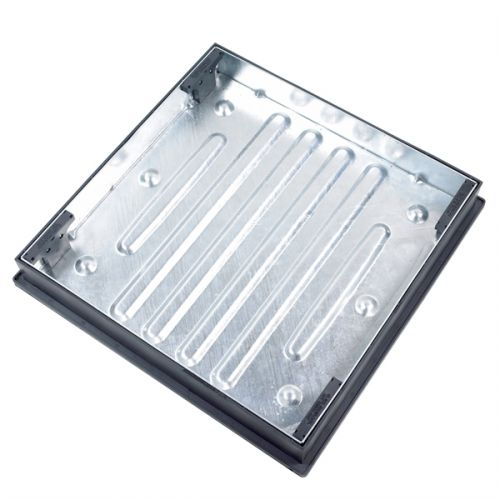 GALV MANHOLE COVER RECESSED 600 x 600mm 10 TONNE 80mm DEEP CD791R