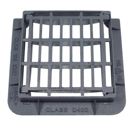 DUCT IRON GRATING D400 425 x 425 x 100mm SLOTTED CD184SKMD (ANTI THEFT)