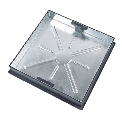 MANHOLE COVER SQUARE TO ROUND RECESSED 580 x 580 x 80mm CD450SR (10T) 450mm CLEAR OPENING