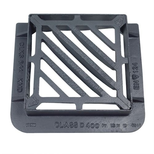 DUCT IRON GRATING D400 415 x 415 x 100mm DOUBLE TRIANGLE CD644KMD