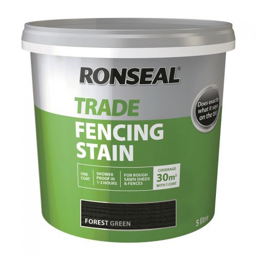 RONSEAL TRADE FENCING STAIN 5l FOREST GREEN 38578