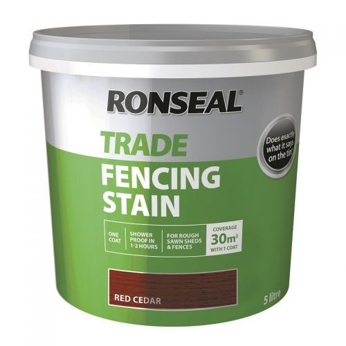 RONSEAL TRADE FENCING STAIN 5l RED CEDAR 38576