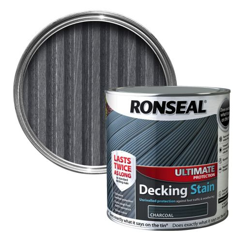 RONSEAL ULTIMATE DECKING STAIN 2.5l CHARCOAL 36912