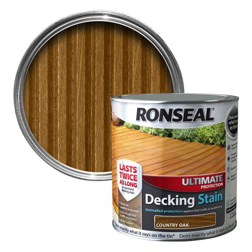 RONSEAL ULTIMATE DECKING STAIN 2.5l COUNTRY OAK 36904