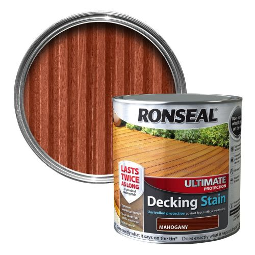 RONSEAL ULTIMATE DECKING STAIN 2.5l MAHOGANY 36909