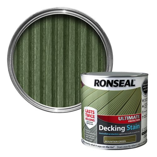 RONSEAL ULTIMATE DECKING STAIN 2.5l MOUNTAIN GREEN 37082