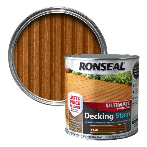 RONSEAL ULTIMATE DECKING STAIN 2.5l RICH TEAK 36907