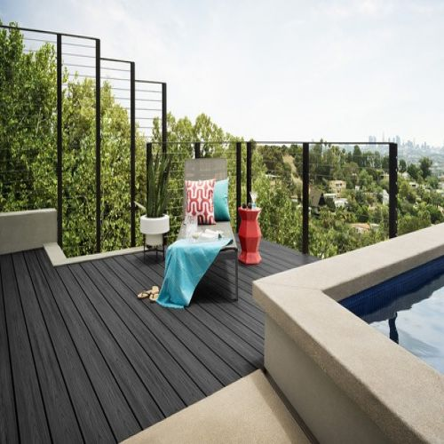 WITCHDECK HERITAGE COMPOSITE DECKING 150mm x 3.6m MIDNIGHT BLACK
