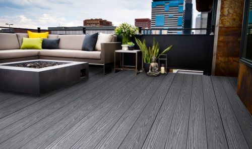 WITCHDECK HERITAGE COMPOSITE DECKING 150mm x 3.6m MIST GREY