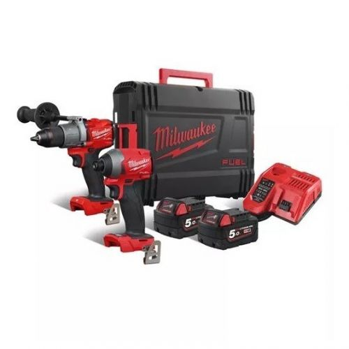 MILWAUKEE M18FPP2A2-502X 18v GENERATION 3 BRUSHLESS TWIN PACK 2 x 5.0ah LI-ION BATTERIES