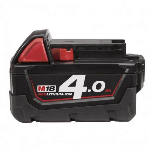 MILWAUKEE M18B4 18v 4.0ah RED LI-ION BATTERY