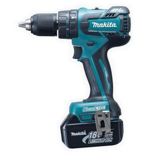 MAKITA DHP459SFE 18v BRUSHLESS COMBI HAMMER DRILL WITH 2 x 3.0ah LI-ION BATTERIES
