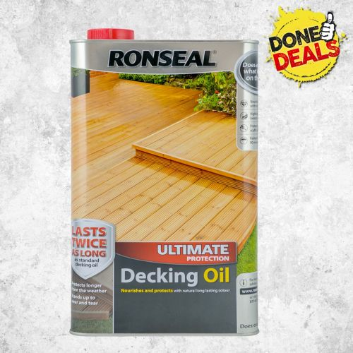 RONSEAL ULTIMATE DECKING OIL 5l NATURAL 37297