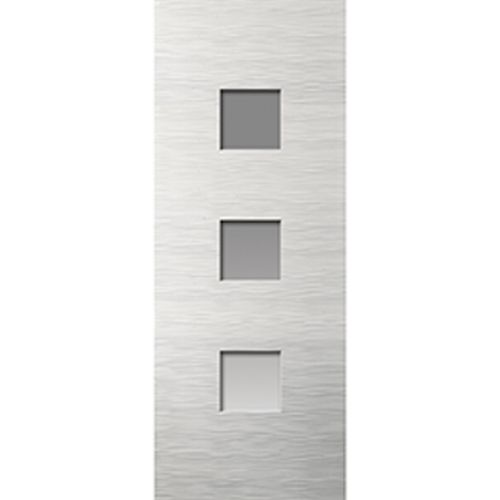 JB Kind White Moulded Ripple Glazed Door