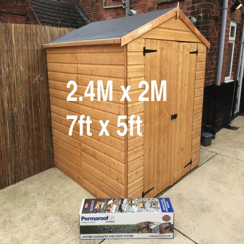 PERMAROOF FIRESTONE EPDM SHED ROOF KIT 2.4 x 2m (7` x 5`)
