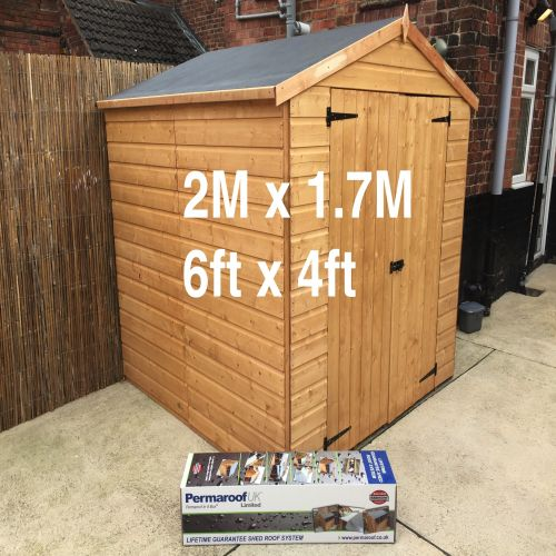 PERMAROOF FIRESTONE EPDM SHED ROOF KIT 2 x 1.7m (6` x 4`)