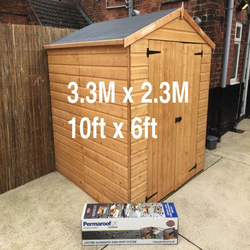 PERMAROOF FIRESTONE EPDM SHED ROOF KIT 3.3 x2.3m (10` x 6`)