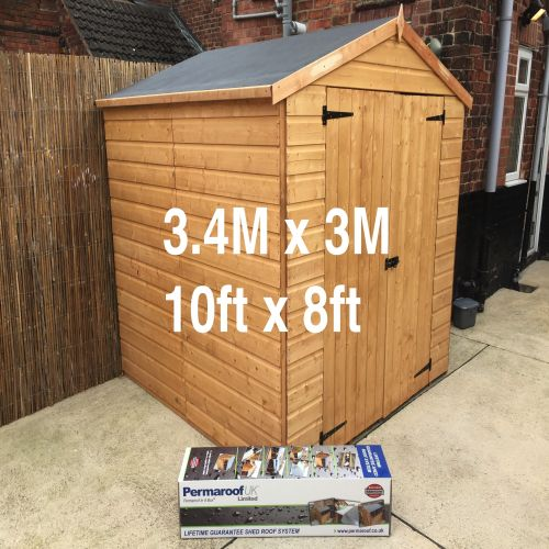 PERMAROOF FIRESTONE EPDM SHED ROOF KIT 3.4 x 3m (10` x 8`)