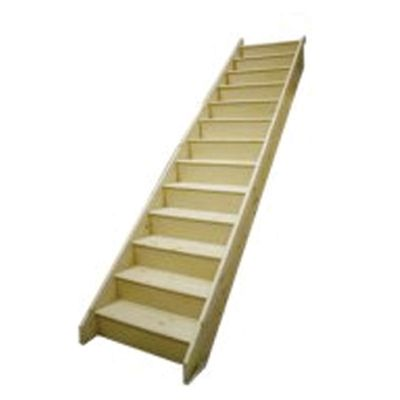 JELDWEN WHITEWOOD STAIRCASE (CEFNI) **REG12** WM 2600mm RISE / 855mm EXT WIDTH / 2676 GOING
