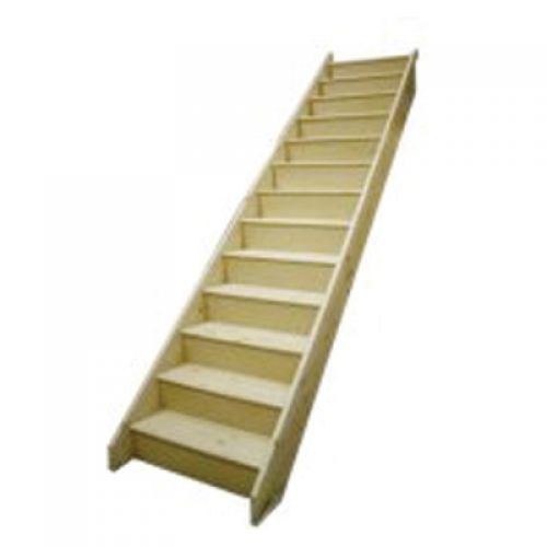 JELDWEN WHITEWOOD STAIRCASE (CEFNI) **REG12** W85 2574mm RISE / 855mm EXT WIDTH 2676 GOING