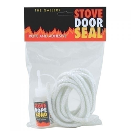 2.5m x 8mm STOVE ROPE PACK INC ADHESIVE WHITE 2300042