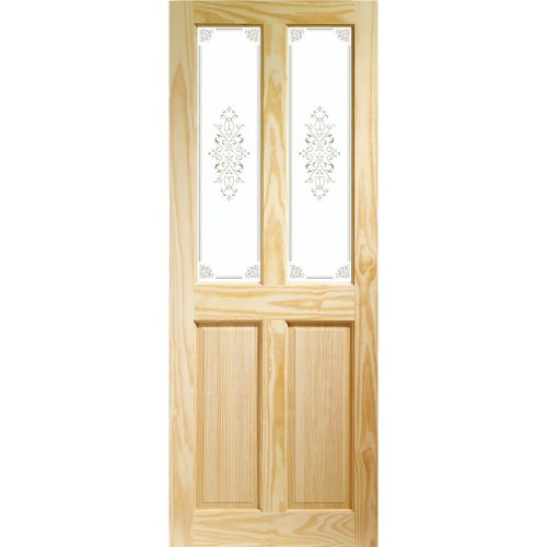 XL Joinery Internal Clear Pine Victorian Door (Campion Glass)