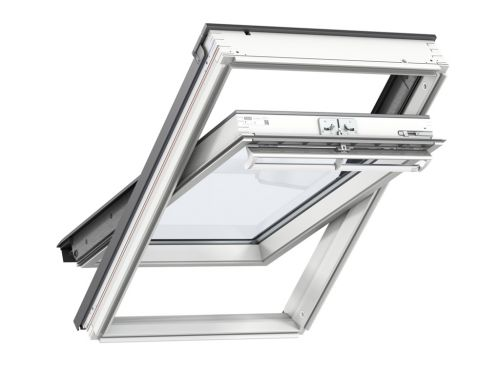 VELUX GGL 2070 CK02 WHITE PAINTED WINDOW 550 x 780mm CENTRE PIVOT