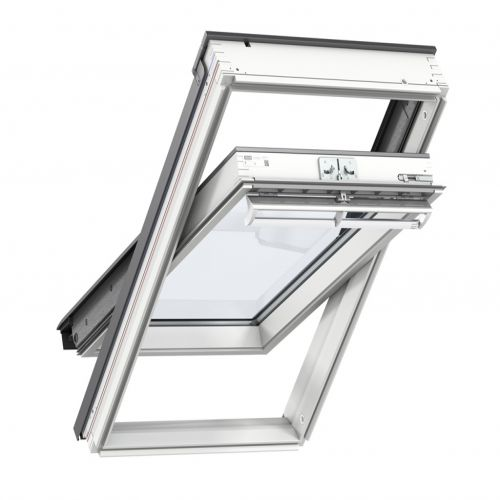 VELUX GGL 2070 CK06 WHITE PAINTED WINDOW 550 x 1180mm CENTRE PIVOT